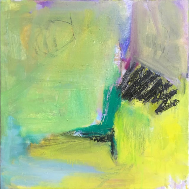 """Minimalist Abstract Oil by Trixie Pitts 12""""x12"""" - Image 1 of 2"""