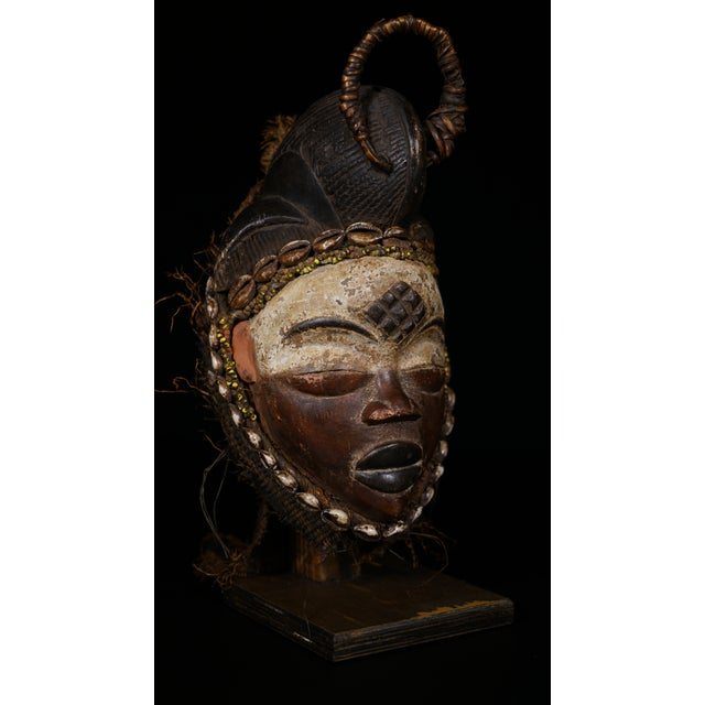 Punu African Tribal Mask from Gabon - Image 2 of 8