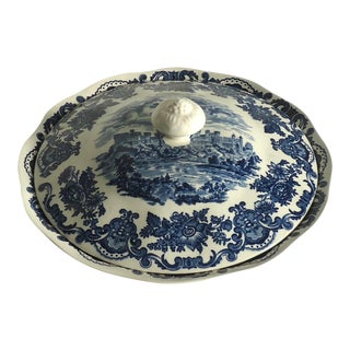 Blue & White Wedgwood English Serving Bowl