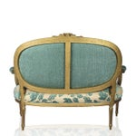 Image of Chenille Upholstered Louis XVI Settee