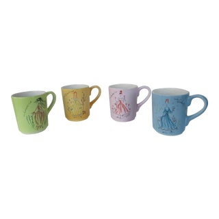 Pastel Coffee Mugs - Set of 4