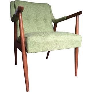 Mid-Century Danish Modern Oak Lounge Chair