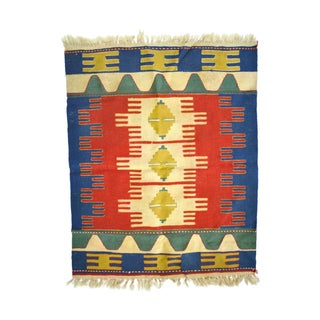 Indian Hand Woven Wool Anatolian Kilim Rug