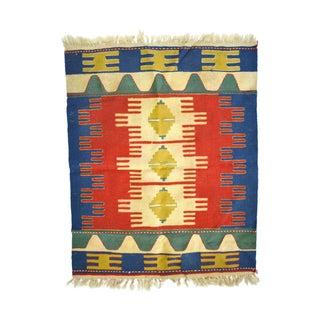 Indian Hand Woven Wool Anatolian Kilim Rug
