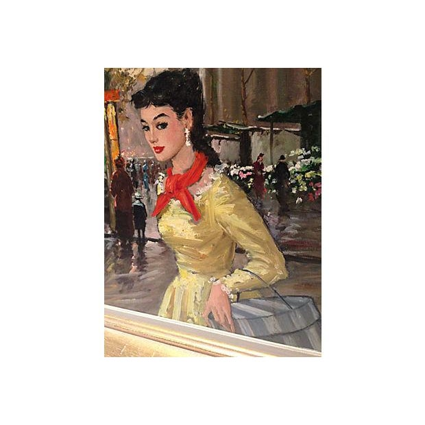 1950's Gerome-Signed Le Madeliane Oil Painting - Image 6 of 6