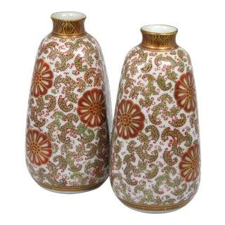 Japanese Kutani Ware Vases - A Pair