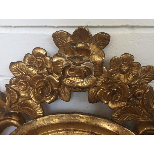 Antique Carved Gold Mirror - Image 6 of 9