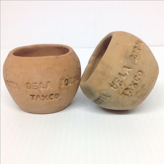 Image of Rustic Terra Cotta Pots, Taxco Mexico - A Pair