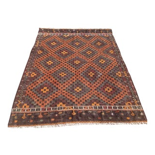 Vintage Turkish Kilim Rug - 6′11″ × 9′4″