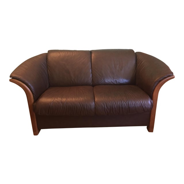 ekornes manhattan 2 seater sofa chairish. Black Bedroom Furniture Sets. Home Design Ideas