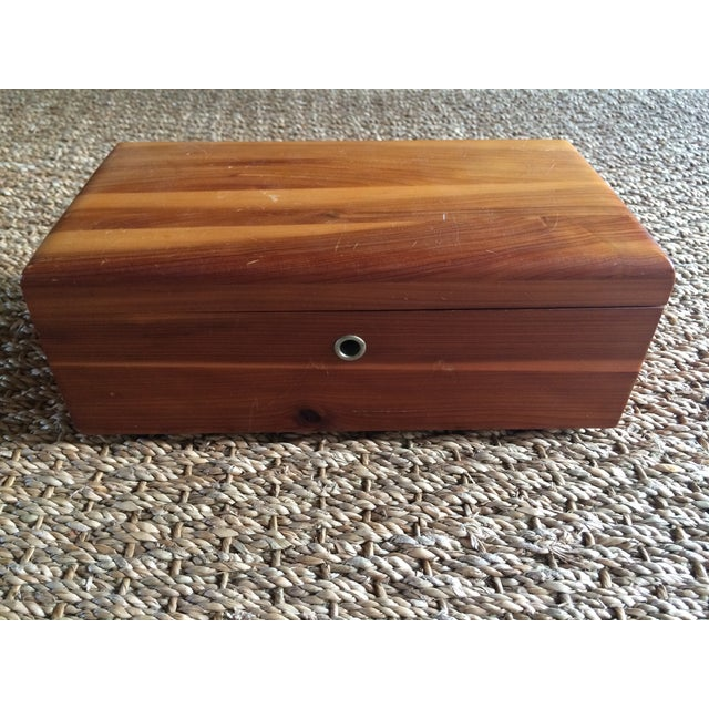 Lane Furniture Cedar Jewelry Box - Image 2 of 5