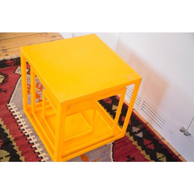 Retro Tangerine Nesting Cubes- Set of 3 - Image 5 of 6