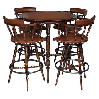 Spanish Colonial Style Table & Chairs Set - Set of 5