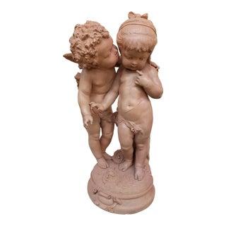 Paul Duboy Depose Terracotta Children Figurine