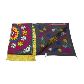 Vintage Suzani Fuchsia Throw
