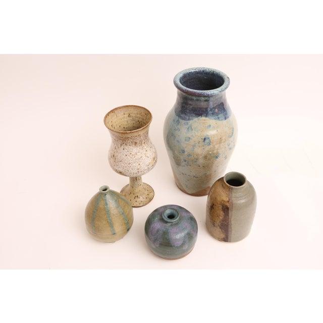 Mid-Century Modern Handmade Studio Pottery Vases - Set of 5 - Image 4 of 5