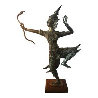 Thai Gilt Bronze Angel Statue