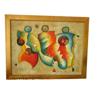 Abstract in Gold Painting