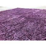 "Image of Hand-Woven Silky Purple Rug - 9'1"" X 11'9"""