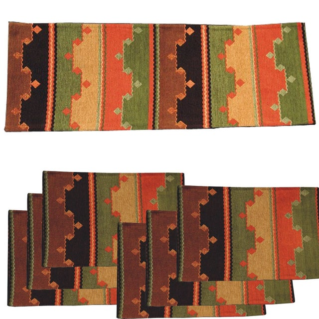 Southwest Table Runner & Placemats - Set of 7 - Image 1 of 2