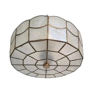 1960s Capiz Shell Ceiling Light