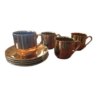Copper Japanese Tea - Set of 4
