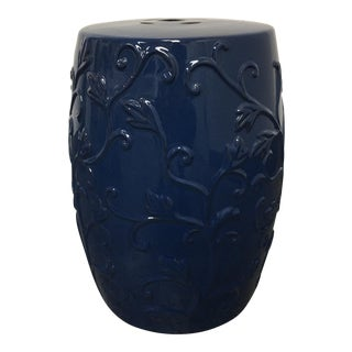 Navy Blue Ceramic Garden Stool