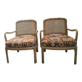 Henredon Cane Chairs - A Pair
