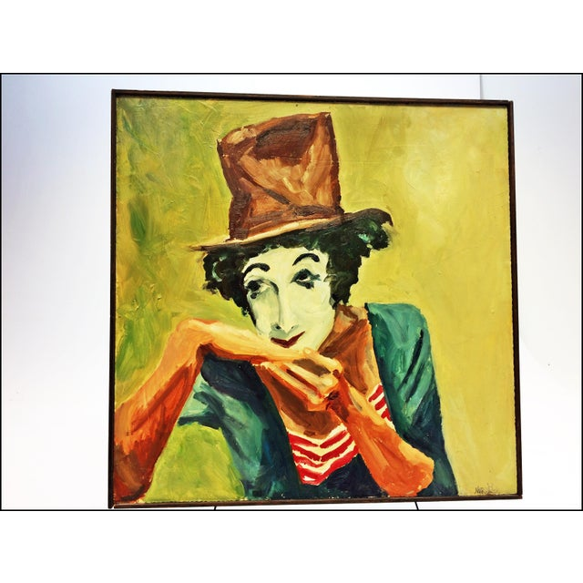 Vintage Impressionist Oil Painting of Clown - Image 5 of 11