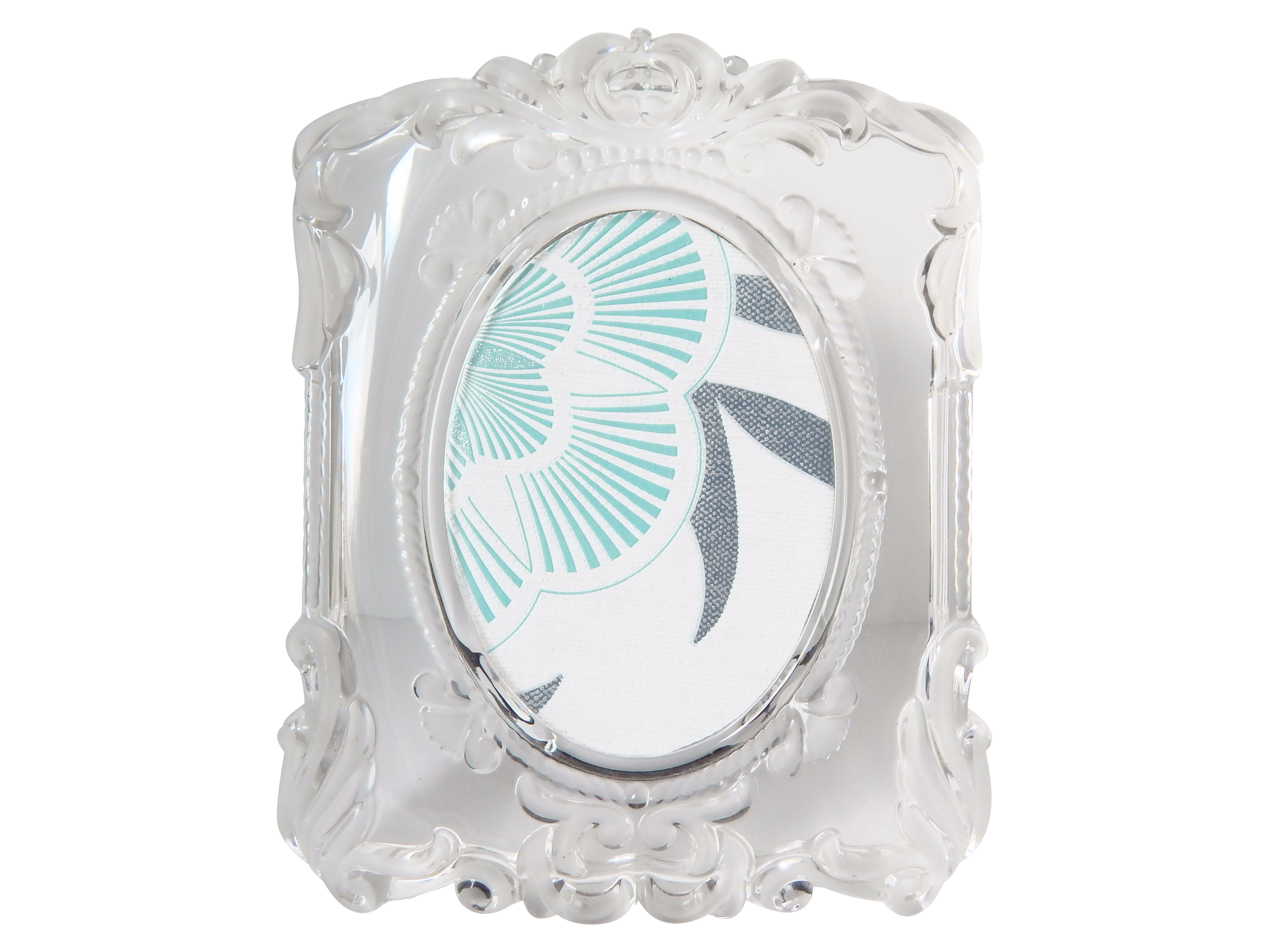 etched clear glass picture frame chairish