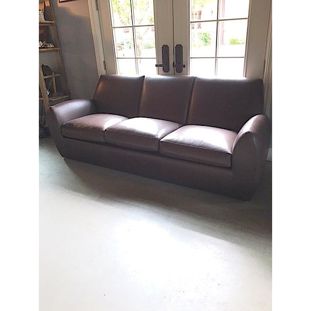 Dakota Jackson Brown Leather Sofa Chairish