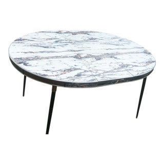 Faux Marble Mid-Century Dining Table
