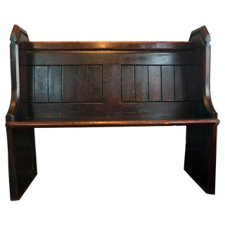 Victorian Church Pew Bench