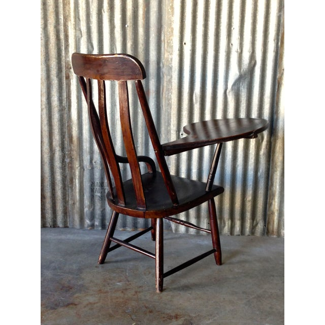 Early New England Windsor Writing Chair - Image 4 of 9