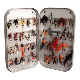 English Fly Fishing Wallet with Hand Tied Flies