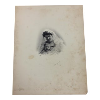 19th Century Portrait of a Mother and Baby Photograph