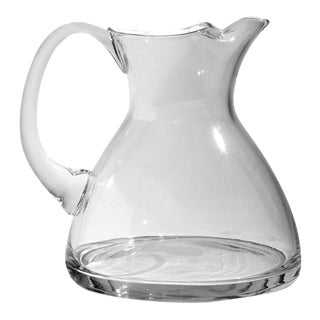 Clear Crystal Water Pitcher