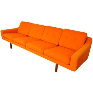 LK Hjelle Norway Scandinavian Sofa With Teak Legs