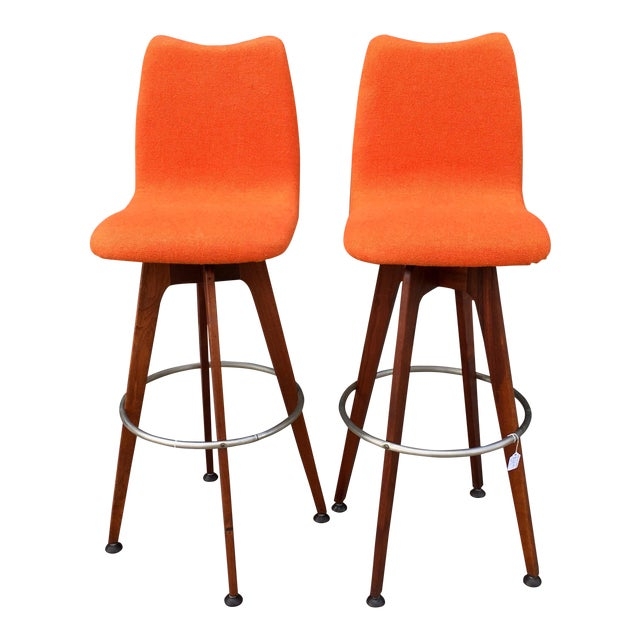 Chet Beardsley Barstools - A Pair - Image 1 of 8