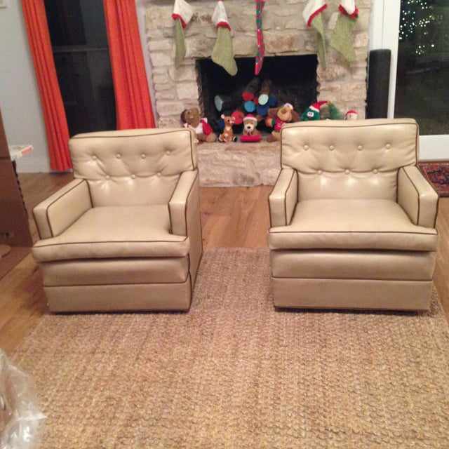 Mid-Century Modern Swivel Chairs - A Pair - Image 2 of 6
