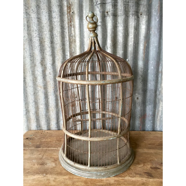 Antique Bentwood & Metal Bird Cage - Image 4 of 7