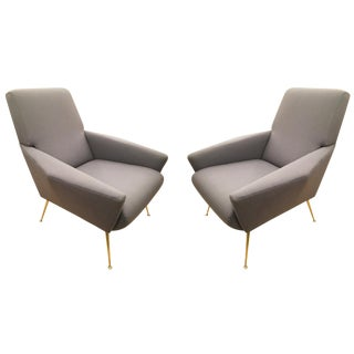 Italian Mid-Century Lounge Chairs in the Manner of Gio Ponti