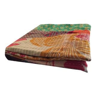 Boho Chic Vintage Kantha Quilt
