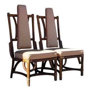 Regal Rattan Chairs, A Pair
