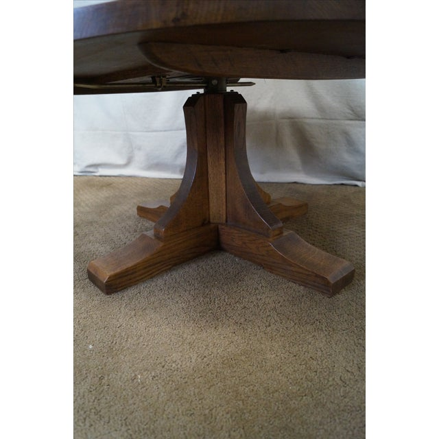 Stickley Oak Adjustable Height Coffee/Dining Table - Image 5 of 10