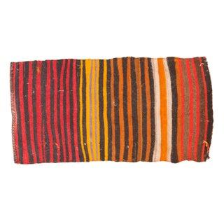 "Vintage Kilim Striped Rug Mat - 1'11"" x 3'9"""