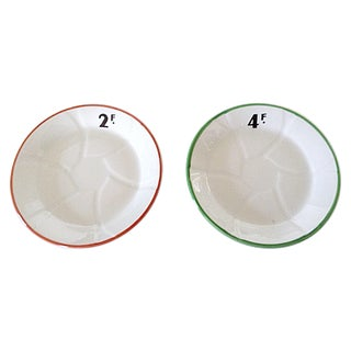 French Bistro Plates - Pair