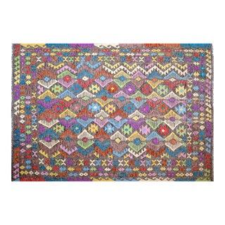 "Colorful Geometric Maimana Kilim - 6'5"" x 9'8"""