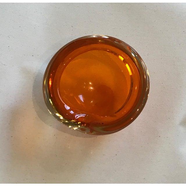 Vintage 1950s Tangerine Cased Glass Bowl - Image 8 of 10