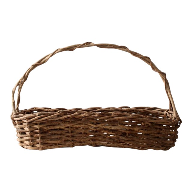 Primitive Wicker Twig Basket - Image 1 of 6